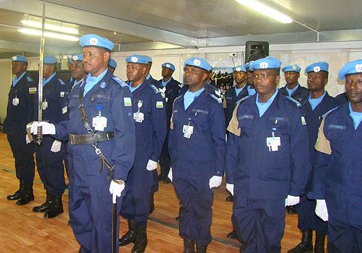 Polisi y'u Rwanda muri Darfur mu muhango wo guhabwa imidari