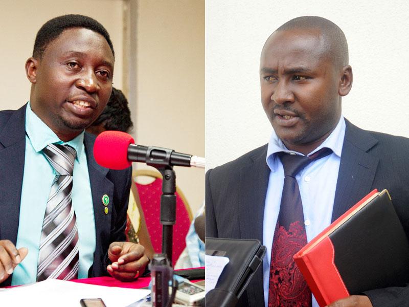 Frank Habineza (Ibumoso) na Willy Ndizeye (Umuyobozi w'akarere)