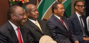 East African Presidents  Photo: Daniel Hayduk/AFP